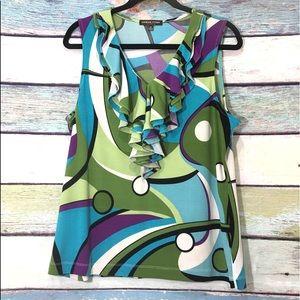 Adrienne Vittadini Studio Sleeveless V-Neck Top XL